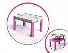 Дитячий ігровий стіл з настільним хокеєм 04580/1/2/3/4/5, 2в1 (Рожевий)