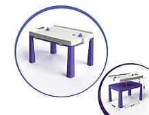 Детский игровой стол с настольным хоккеем 04580/1/2/3/4/5, 2в1 (Фиолетовый)