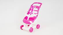 Коляска для куклы 00147 пластиковая (Розовый)