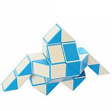 Развивающая головоломка Змейка EQY555, 48 блоков (Синяя)