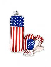 """Дитячий боксерський набір """"Америка"""" 0001 S-USA з рукавичками"""