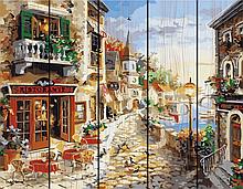 "Картина по номерам на дереве. Rainbow Art ""Приморский бульвар"" GXT7233-RA"