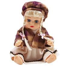 Кукла Алина 5075-AI (Коричневая шапочка) в рюкзаке