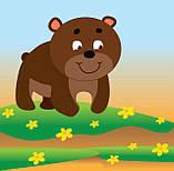 """Детская развивающая книга Мама и малыши """"Медвежата"""" 402863 с наклейками, фото 3"""