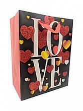 """Подарунковий пакет """"LOVE"""" 212S, 18х23х10 см (212S-1)"""