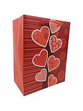 """Подарунковий пакет """"LOVE"""" 212S, 18х23х10 см (212S-2)"""