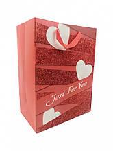 """Подарунковий пакет """"LOVE"""" 212S, 18х23х10 см (212S-4)"""