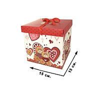 Коробка для подарунка CEL-142-1, 20х20 см (15*15см CEL-142-1M)