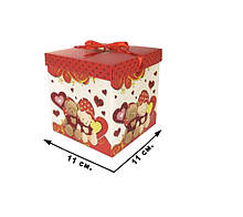 Коробка для подарка CEL-142-2, 11х11 см (11*11 см CEL-142-2S)