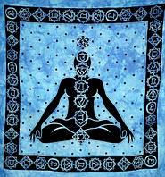 Покрывала 100% Хлопок Индийское 7 чакр Голубое (210х240см)