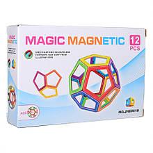 Дитячий магнітний конструктор JH8951B, 12 деталей