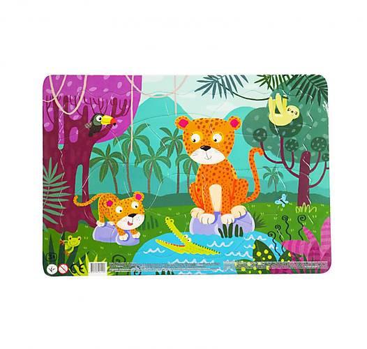 """Пазл в рамці """"Леопарди"""" DoDo R300185, 21 деталей"""