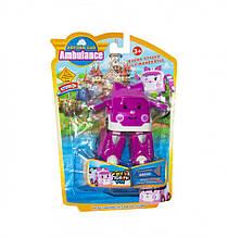 Детский трансформер Robocar POLI 378B высота 12 см (Фиолетовый Скорая)