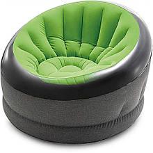 Надувное велюровое кресло 66582 до 100 кг (Зелёный)