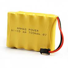 Акумулятор для іграшок на радіокеруванні Ni-Cd 6V 700 mAh