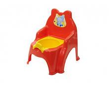 Детский горошк №2 013317/02 со сьемной крышкой (Детский горшок-стульчик (Оранжевый) Doloni (013317/02/5))