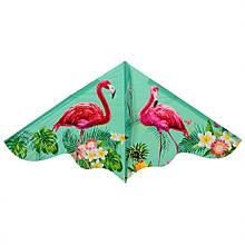 Воздушный змей M 3335-1 клеенка 120см (Фламинго)