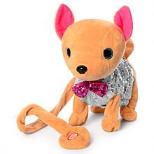 Інтерактивна м'яка іграшка собака M 4307 Кіккі (Срібний)