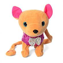 Інтерактивна м'яка іграшка собака M 4307 Кіккі (Рожевий)