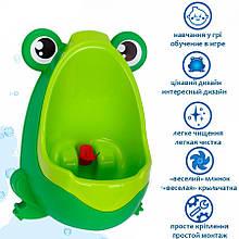 Писсуар детский Лягушка 6870TXK с легкой чисткой (Зелёный)