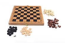 Шахматы с шашками инардами S3023 деревянные