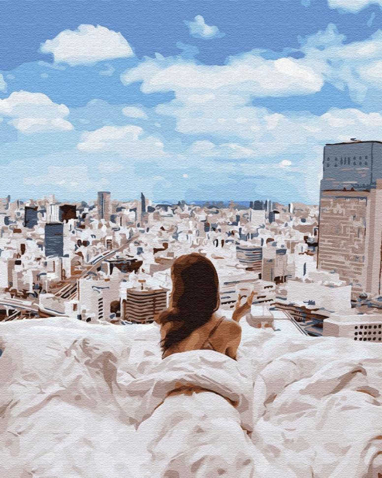 """Картина за номерами. Brushme """"Ранок у великому місті"""" GX34136, 40х50 см"""