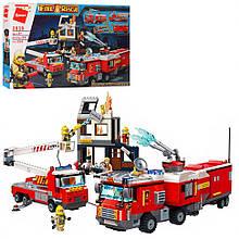 Конструктор типу лего Пожежна машинка Qman 2810Q, 996 деталей