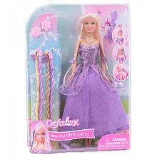 Лялька типу Барбі в сукні DEFA 8182 з аксесуарами (Фіолетовий)