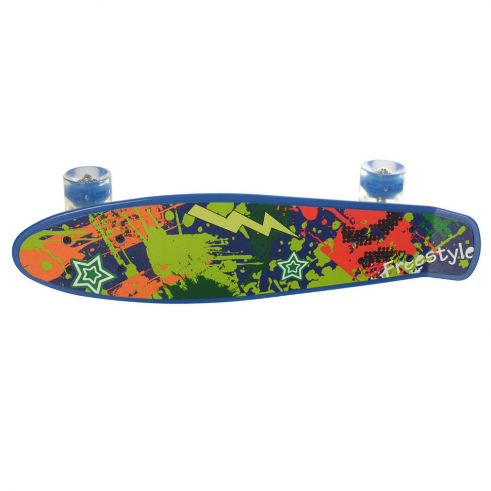 Дитячий скейт Пенні борд MS 0749-1 з такими колесами (Синій)