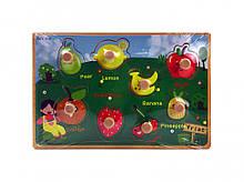 Розвиваюча іграшка Рамка-вкладиш MD 2384-01 дерев'яна ( 2384-010 (Фрукти))
