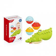 Игровой набор для ванной Крокодил HE0263 с рыбками