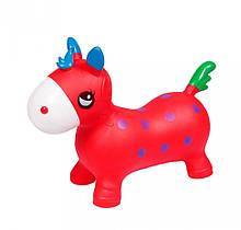 Дитячий стрибун-конячка BT-RJ-0065 з ріжками (Red)