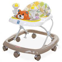 Ходунки дитячі на колесах M 3656-2 музичний (Коричневий)