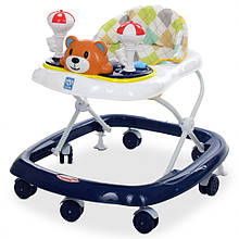 Ходунки детские на колёсах M 3656-2 музыкальный  (Синий)