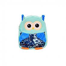 Дитячий плюшевий рюкзак BG8020 Сова (Берюзовый)