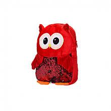 Дитячий плюшевий рюкзак BG8020 Сова (Червоний)