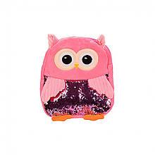 Дитячий плюшевий рюкзак BG8020 Сова (Рожевий)