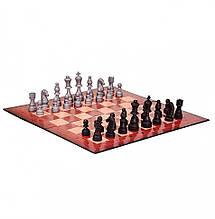 """Настольная игра """"Шахматы"""" 99300/99301 картонная доска - 36*36 см (Красная доска )"""