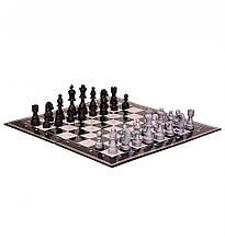 "Настольная игра ""Шахматы"" 99300/99301 картонная доска - 36*36 см (Черная доска )"