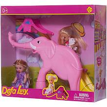 Лялька типу Барбі діти DEFA 8277 з ігровим майданчиком (Фіолетовий)