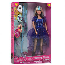 Лялька типу Барбі Відьма DEFA 8397-BF з масками (Блакитний )