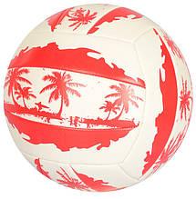 Мяч волейбольный EN 3296 с рисунком (Красный)