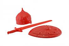 """Детский игровой набор рыцаря """"Богатырь"""" 0701B со щитом и шлемом"""