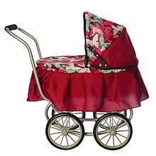 Коляска для куклы классическая 9678 с большими колесами