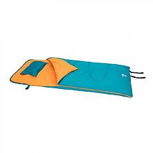 Спальний мішок односпальний BW 68101 на блискавці (Синій)