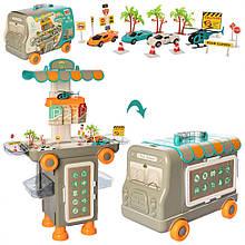 Дитячий ігровий набір Гараж 11K07 зі столиком на колесах