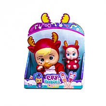 Набір маленьких ляльок Cry Babies 633, 2 шт. в наборі ( 633-D (Оленя) CRY BABIES)