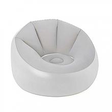 Кресло надувное, велюровое BW 75086 с LED подсветкой