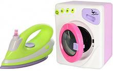 Дитячий ігровий набір побутової техніки 6999B пральна машинка обертає барабан