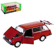 Колекційна іграшкова машина ВАЗ 2104 інерційна (Червоний)